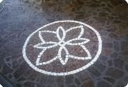 Pietra pavimento disegno : Disegno con cubetti di porfido e Carrara inserito in un pavimento ...